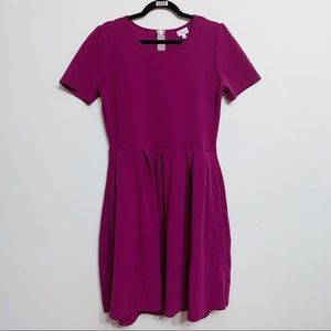 Lularoe Amelia Purple Pocket Dress, Size XL